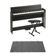 KORGC1AIRBR電子ピアノDiconAudioSB-001キーボードベンチピアノマット(グレイ)付きセット