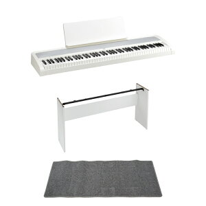 KORG B2 WH 電子ピアノ 純正スタンド ピアノマット(グレイ)付きセット