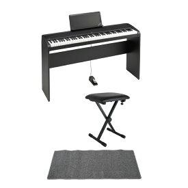 KORG B2N BK 電子ピアノ 純正スタンド ピアノイス ピアノマット(グレイ)付きセット