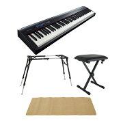 ROLANDFP-30BK電子ピアノ4本脚スタンドX型イスピアノマット(クリーム)付きセット