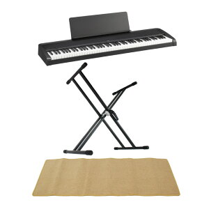 KORG B2 BK 電子ピアノ Dicon Audio KS-020 X型キーボードスタンド ピアノマット(クリーム)付きセット