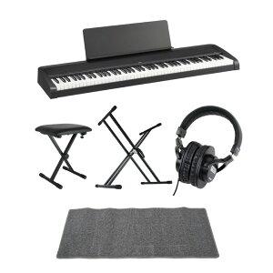 KORG B2 BK 電子ピアノ Dicon Audio X型キーボードスタンド ベンチ SD GAZERヘッドホン ピアノマット(グレイ)付きセット