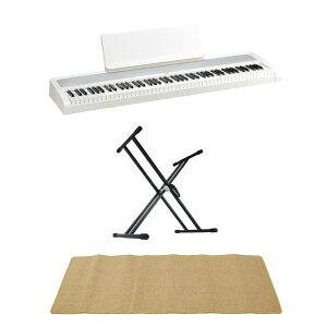 KORG B2 WH 電子ピアノ Dicon Audio KS-020 X型キーボードスタンド ピアノマット(クリーム)付きセット