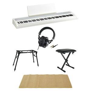 KORG B2 WH 電子ピアノ Dicon Audio 4本脚型 キーボードスタンド&ベンチ SD GAZERヘッドホン ピアノマット(クリーム)付きセット