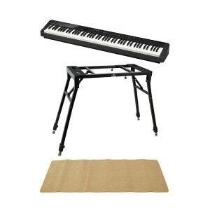 CASIO Privia PX-S3000 BK 電子ピアノ キーボードスタンド ピアノマット(クリーム)付きセット