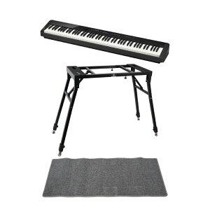 CASIO Privia PX-S3000 BK 電子ピアノ キーボードスタンド ピアノマット(グレイ)付きセット