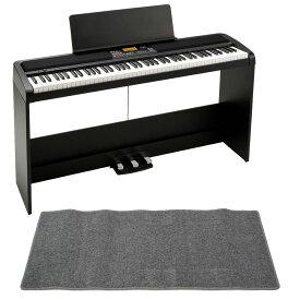 KORG XE20SP DIGITAL ENSEMBLE PIANO 88鍵盤 自動伴奏機能付き 電子ピアノ スタンド 3本足ペダルユニット付き ピアノマット(グレイ)付きセット