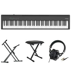 ROLAND FP-30X-BK Digital Piano ブラック 電子ピアノ キーボードスタンド キーボードベンチ ヘッドホン 4点セット [鍵盤 Cset]