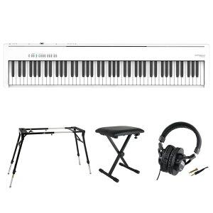 ROLAND FP-30X-WH Digital Piano ホワイト 電子ピアノ キーボードスタンド キーボードベンチ ヘッドホン 4点セット [鍵盤 Fset]