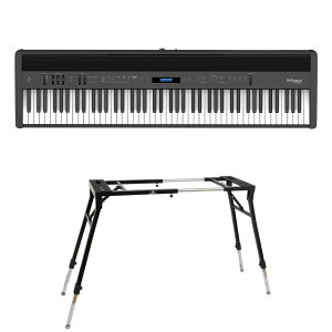 ROLAND FP-60X-BK Digital Piano ブラック デジタルピアノ キーボードスタンド 2点セット [鍵盤 Dset]