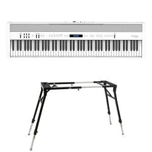 ROLAND FP-60X-WH Digital Piano ホワイト デジタルピアノ キーボードスタンド 2点セット [鍵盤 Dset]