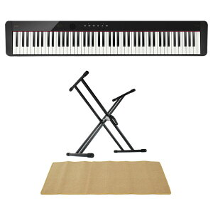 CASIO Privia PX-S1100 BK 電子ピアノ キーボードスタンド ピアノマット(クリーム)付きセット