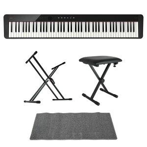 CASIO Privia PX-S1100 BK 電子ピアノ キーボードスタンド キーボードベンチ ピアノマット(グレイ)付きセット