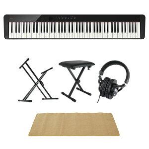 CASIO Privia PX-S1100 BK 電子ピアノ キーボードスタンド キーボードベンチ ヘッドホン ピアノマット(クリーム)付きセット