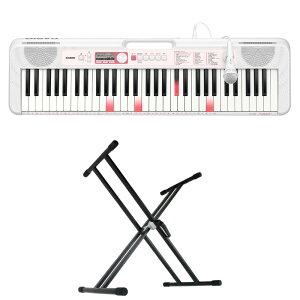 CASIO LK-320 61鍵盤 光ナビゲーション キーボード キーボードスタンド 2点セット