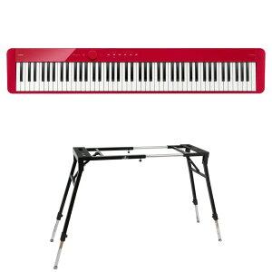 CASIO Privia PX-S1100 RD 電子ピアノ キーボードスタンド 2点セット [鍵盤 Dset]