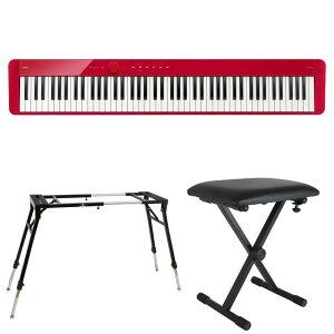 CASIO Privia PX-S1100 RD 電子ピアノ キーボードスタンド キーボードベンチ 3点セット [鍵盤 Eset]