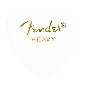 Fender 346 Shape Classic Celluloid Picks Heavy White ギターピック×12枚