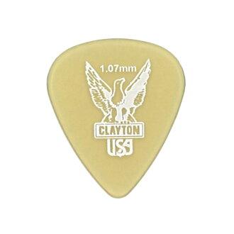 *12張Clayton USA Ultem Gold 1.07mm標準吉他選取