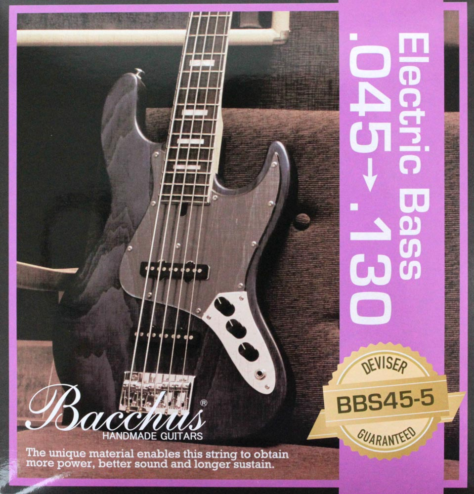 BACCHUS EB Strings BBS45-5 45-130 5弦用エレキベース弦×2SET