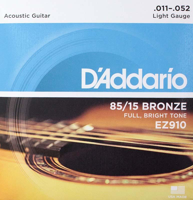 D'Addario EZ910 Light ×5SET アコースティックギター弦