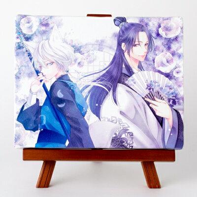 藤間麗先生「王の獣」イーゼル付きキャンバスアート(中)