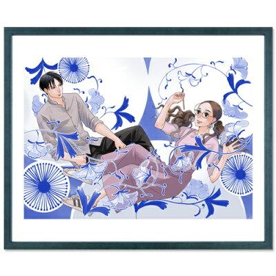 小玉ユキ先生直筆サイン入り超高画質複製原画プリマグラフィ「青の花器の森」(サイズ八つ切)