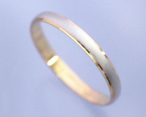 AI(アイ)プラチナ+K18ゴールドコンビ リング/結婚指輪 「le soleil(ソレイユ)」【送料無料】【コンビニ受取対応商品】