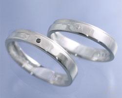 AImavie(アイマヴィ)K14ホワイトゴールドダイヤモンドペアリング「aile(エル)」【ペア(2本)セット価格】【送料無料】【刻印なし→納期約3週間、刻印あり→約3週間+3日】