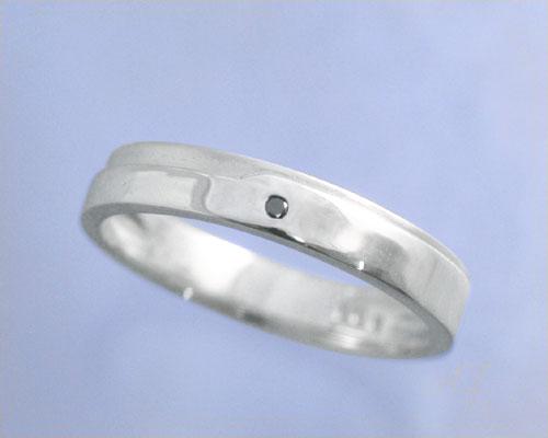 AI mavie(アイ マヴィ)K14ホワイトゴールド ダイヤモンド リング/結婚指輪(指輪)「aile(エル)」Men's/メンズ【送料無料】【刻印なし→納期約3週間、刻印あり→約3週間+3日】【コンビニ受取対応商品】