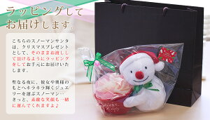 大切なクリスマスプレゼントをキュートにお届けスノーマンサンタ【単品販売不可】