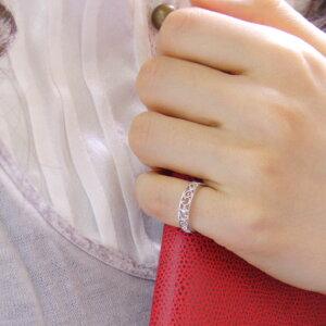 ピンキーリングダイヤモンド4月誕生石透かしツタの葉10kK10ホワイトゴールド(K10WG)指輪リングサイズ0号1号2号3号4号5号6号から9号送料無料モデル