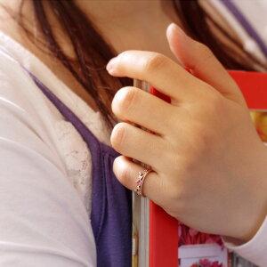 ピンキーリング10月の誕生石☆ピンクトルマリン&ダイヤモンド0.02ct【K10ピンクゴールド(K10PG/K18PG)】ピンキーリング「ユワイエット」【送料無料】【楽ギフ_包装】【smtb-tk】fs3gm