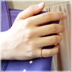 ピンキーリング9月誕生石サファイア(ホワイト/ピンク/イエロー/オレンジ)エメラルド/ルビー10kK10ピンクゴールドアミュレットマルチカラー7石七色7色厄除け祈願にリングサイズ0号1号2号3号4号5号6号から9号指輪シンプルモデル