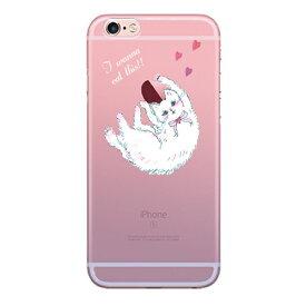 LOVELY CAT 〈 クリアケース 〉 iPhoneXS iPhoneXR iPhoneXSMAX iPhoneX iPhone8 iPhone8plus iPhone7 iPhone7plus iPhone6 iPhone6s iPhoneSE Ciara シアラ かわいい おしゃれ 人気 女子 ブランド 薄い 軽い