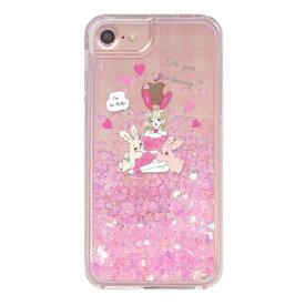 BUNNY_GIRL 〈 グリッターケース 〉 iPhoneXS iPhoneXR iPhoneX iPhone8 iPhone7 iPhone6 iPhone6s Ciara シアラ かわいい 人気 女子 ブランド おしゃれ スマホ ケース グリッター キラキラ オイル