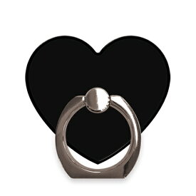 BLACK 〈 ハートリング 〉 スマホ リング Ciara シアラ かわいい おしゃれ 人気 女子 ブランド スマートフォン タブレット シンプル ハート ハート型 リングホルダー ホルダー バンカー Finger Ring Holder iPhone android Xperia Galaxy