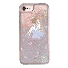 LAVENDER GIRL 〈 グリッターケース 〉 iPhoneXS iPhoneXR iPhoneX iPhone8 iPhone7 iPhone6 iPhone6s Ciara シアラ かわいい 人気 女子 ブランド おしゃれ スマホ ケース グリッター キラキラ オイル