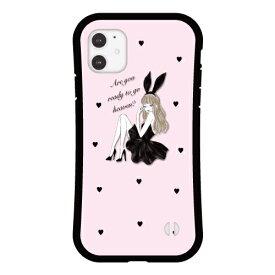 【 送料無料 】 Ciara iPhone ケース 【 iPhoneSE 第2世代 iPhone11 iPhone11Pro 11ProMax XS XR XSMAX X 8 7 Plus 】 アイフォン スマホ 耐衝撃 シアラ かわいい おしゃれ 女子 BLACK BUNNY グリップケース