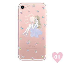 LAVENDER GIRL 〈 クリアケース 〉 Ciara シアラ かわいい スマホ スマートフォン ケース スリム iPhoneXS iPhoneXSMAX iPhoneX iphone8 iphone8plus iphone7 iphone7plus iphone6 iphone6s 可愛い