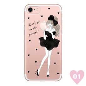 BLACK RIBBON 〈 クリアケース 〉 Ciara シアラ かわいい スマホ スマートフォン ケース スリム iPhoneXS iPhoneXSMAX iPhoneX iphone8 iphone8plus iphone7 iphone7plus iphone6 iphone6s 可愛い