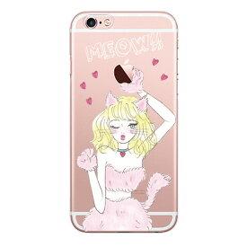 MEOW GIRL 〈 クリアケース 〉 Ciara シアラ かわいい スマホ スマートフォン ケース スリム iPhoneXS iPhoneXSMAX iPhoneX iphone8 iphone8plus iphone7 iphone7plus iphone6 iphone6s 可愛い