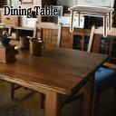 【送料無料】 天然木 アイアン ダイニングテーブル お洒落 木製 ブルックリン カントリー ヴィンテージ ビンテージ 北…