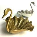 ブラス スワン トレイ プレート アンティークゴールド 真鍮 トレー プレート カルトン 小物入れ 小物置き BRASS コイ…