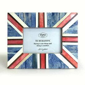 【メール便対応可】 バッファローボーン フォトフレーム ユニオンジャック 壁掛け 写真立て フォトスタンド ボーン 骨 角 木製 ウッド 縦 横 四角形 長方形 ヴィンテージ ビンテージ アンティーク イギリス国旗 英国 国旗 お洒落 おしゃれ