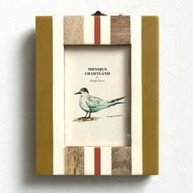 フォトフレーム サーフ マンゴーウッド 壁掛け 写真立て 写真たて フォトスタンド フレーム 天然木 木製 四角 長方形 ヴィンテージ アンティーク サーフ 西海岸 雑貨 お祝い ギフト お洒落 おしゃれ ナチュラル プレゼント