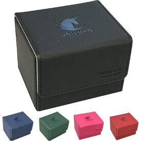 デッキケース トレカ カードケース 100枚収納 Uシリーズ ユニコーン レザー トレーディングカード カードデッキ ストレージ ボックス