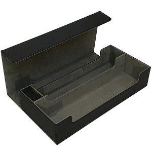 トレカ カードデッキケース トレーディングカード 約550枚収納 黒 ブラック レザー カードケース ホルダー ストレージボックス Xシリーズ