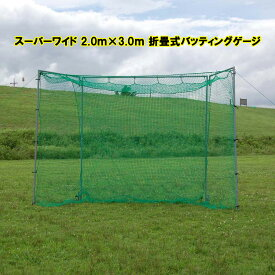 バッティングネット 軟式 大型 FBN-2010N2 スーパーワイド 2.0m×3.0m 野球 ネット 野球バッティングネット 軟式 折りたたみ バッティングゲージ 軟式バッティングネット 大型 バッティングゲージ 大型 フィールドフォース バッティング練習 器具