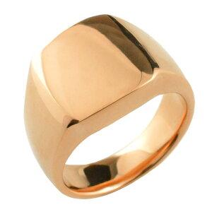 K18 リング 印台 18k 18金リング ゴールド 印台リング 幅広 シンプル リング ピンクゴールド PG リング 指輪 誕生日 レディース ジュエリー アクセサリー プレゼント ギフト